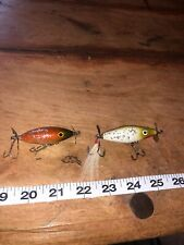 Vintage Unlnown Wooden Lures 2 Immaculate Condition