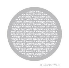 Airbrush Schablonen Mylar Torte 7 Happy Birthday Glückwunsch Tortenschablone D24