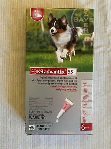 K9 advantix Dogs 21-55lbs Free Shipping