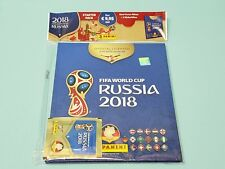 PANINI WM 2018 RUSSIA WORLD CUP Sticker STARTER DELUXE Hardcover album + 3 Sacchetti