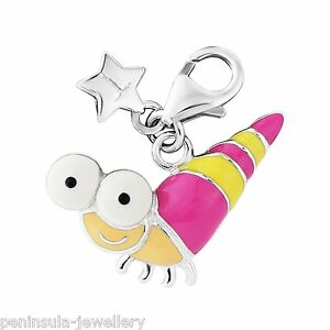 Tingle Sterling Silver Charm clip on Snail with Gift Box and Bag SCH306