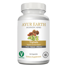 AYUR EARTH Triphala Digestion & Colon Support Ayurvedic Supplement 60 Capsules
