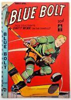 🍁 Blue Bolt #Vol 9#8 [98] (Mar-Apr 1949 Novelty Press) Hockey Player Comic Book