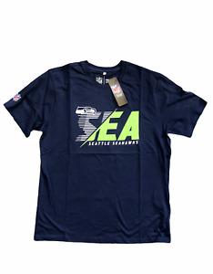 Seattle Seahawks Men's T-Shirt NFL Fanatics SEA American Football T-Shirt - New