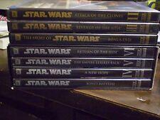 (7) Star Wars DVD Lot: Star Wars II, III, IV, V & VI + The Story of Star Wars
