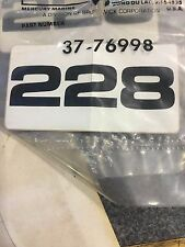 MerCruiser Out Drive 228 Decal