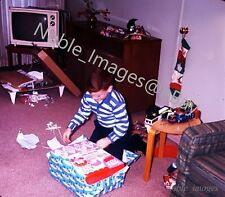1966 Christmas Boy Whiz Fizz Soda Fountain Ektachrome 127 Color Slide