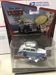 Disney Pixar Cars 2 Deluxe - The Queen #10 - 2011 diecast by Mattel (Read)