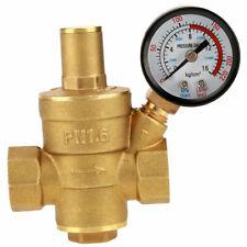 Dn15 Brass Adjustable Water Pressure Regulator Reducer With Gauge Meter Us