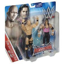 WWF WWE TNA Mattel Battle Pack STEVE AUSTIN & BRET HART 2 figure toy set
