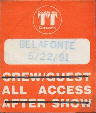 Harry Belafonte Rare Original 5/22/1991 Portland Backstage Cloth Aa Pass - Used