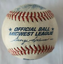 Rawlings Official Ball Midwest League Game Used Minor League Baseball Souvenir
