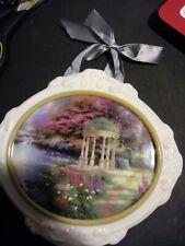 "Thomas Kinkade Painter of Light, ""Garden of Prayer"", Hanging Ceramic Plaque"