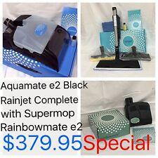 New Aquamate, RainJet W/ Supermop & Rainbowmate for Rainbow e2 Black + 2 Bottles