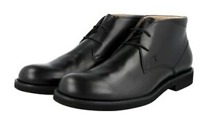 AUTH LUXURY TOD'S LACE-UP SHOES XXM0WP00D8ZD90B999 BLACK LEATHER NEW