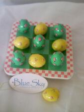 Blue Sky Spring Tic Tac Toe Board w/ 10 Eggs New In Box 3010132