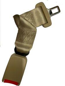 "Extension 14"" Seat Belt beige Extender Belt Extension With Buckle clip wide 7/8"""