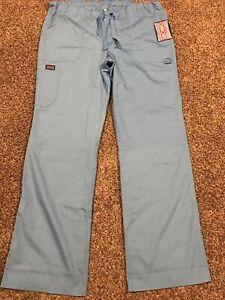 cherokee workwear scrub pants Size L Blue Polyester Blend NWT A40