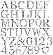 3D Self Adhesive Diamante Letter Stickers LARGE 5cm Craft A-Z Alphabet Stick On