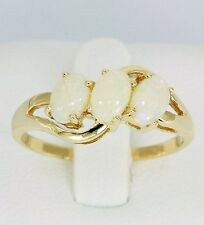 9K Solid Yellow Gold Genuine Opal Ring + 12 Months Warranty