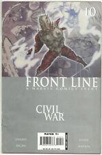 Civil War Front Line #10 VG/FN Mar 2007 Iron Man Venom Daredevil E-music card