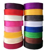 65M Polyester Satin Ribbon Bias Binding Tape Sew Accessory Solid Silky DIY Craft