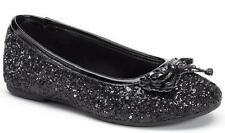NEW Girl's Youth's RACHEL SHOES MARGIE Black Slip On Fashion Flats Dress Shoes