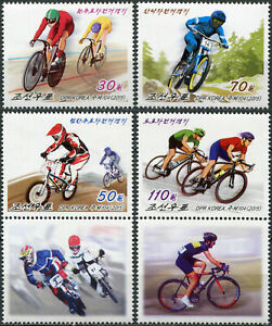 KOREA - 2015 - SET OF 4 STAMPS AND 2 LABELS MNH ** - Cycling