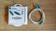 Chord C-line 1m Interconnect Cables RCA HiFi 1 Meter Phono