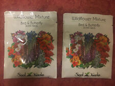 Pack of 2 My Seed Needs Bird, Butterfly Wildflower Mix Seeds 30000 Seeds