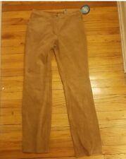 Covington Womens washable brown suede pants