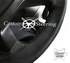 DARK BROWN STITCH STEERING WHEEL REAL LEATHER COVER FITS TOYOTA SUPRA 1985-1991