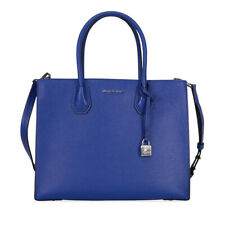 NEW Michael Kors Mercer Large Convertible Electric Blue Leather Tote Bag
