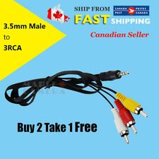 1M AV 3.5mm Jack Plug to 3 RCA Male Camcorder Video Audio Adapter Cable DC GBP