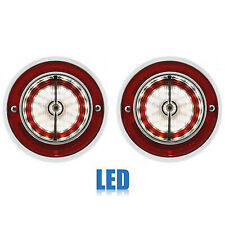 63 Chevy Impala Bel Air Biscayne Back Up Reverse Light Lamp Lens Assembly Pair