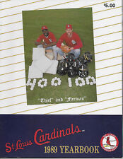 1989 St Louis Cardinals Yearbook
