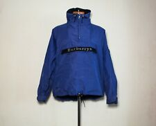 Burberry Vintage Hooded Anorak blue jacket L front logo