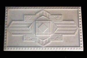 ART DECO ROSE - RARE PLASTER CEILING CENTRE BUILDING 530mm x 920mm