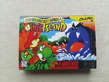 SNES Super Mario World 2 Yoshis Island, Custom Art case only, no game included