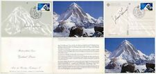 SIGNED MOUNTAINEERING PUMORI GERHARD LENSER 2 CARDS NEPAL HIMALAYA 1962-87 ANNIV