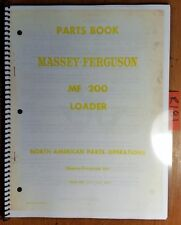 Massey Ferguson MF 200 MF200 Loader Parts Book Manual 651 123 M93 1/67