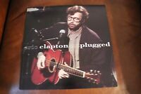 Eric Clapton Unplugged 1992 DOUBLE-SIDED CARDBOARD PROMO POSTER FLAT