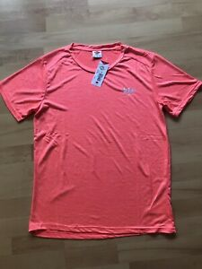 T-Shirt Herren Shirt orange neon Lee Cooper Marl Stretch Gr. L neu
