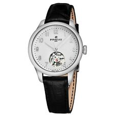 Perrelet Women's First Class Leather Strap Open Heart Automatic Watch A2067/1