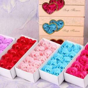 10 Luxury Soap Flowers Roses Bouquet - Romantic Scented Box Relaxing Gift Z1T6