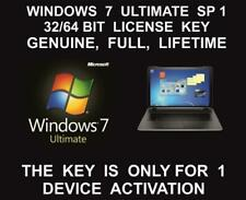 win 7 Ultimate 32 and 64 Bit Full Version SP1 Product Key