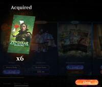 MTGA Magic Arena six Zendikar Rising booster pack prerelease code EMAIL