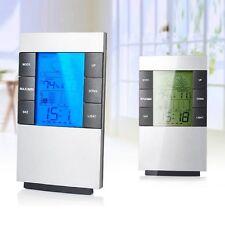 LCD Digital Wetterstation Hydrometer Thermometer Uhr Wecker Luftfeuchtigkeit Neu