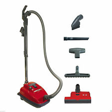 New Sebo Airbelt K3 Canister Vacuum Cleaner Red 9687Am, 5 Year Warranty