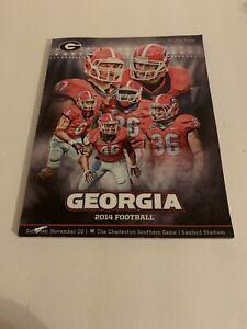 Georgia Bulldogs Football Program 11/22/14 2014 Charleston Southern Todd Gurley